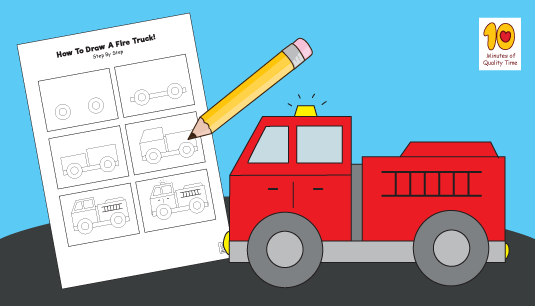 how to draw a fire truck 10 minutes of quality time