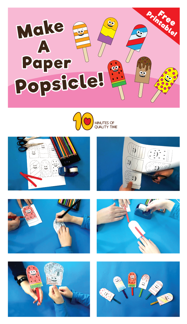 photo relating to Making 10 Games Printable titled Printable Popsicle Sport for Small children - 10 Minutes of High quality Year