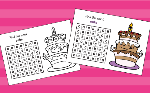 Birthday-word-searches