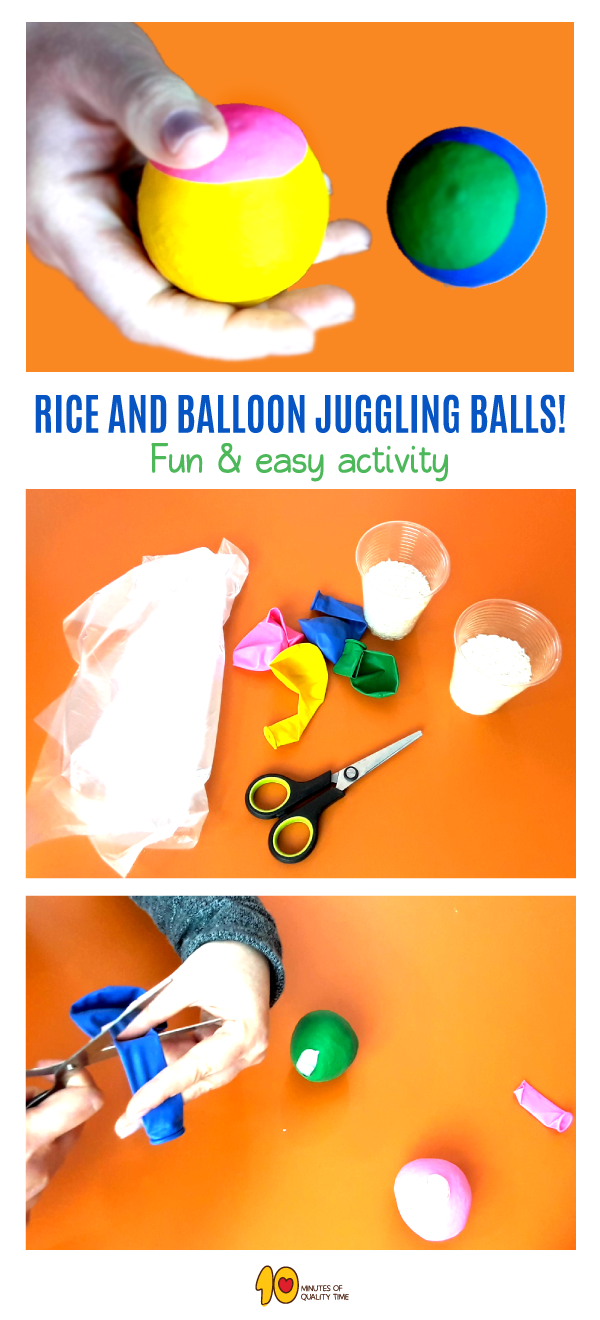 Rice and Balloon Juggling Balls