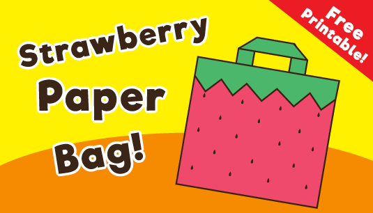 Strawberry Paper Bag