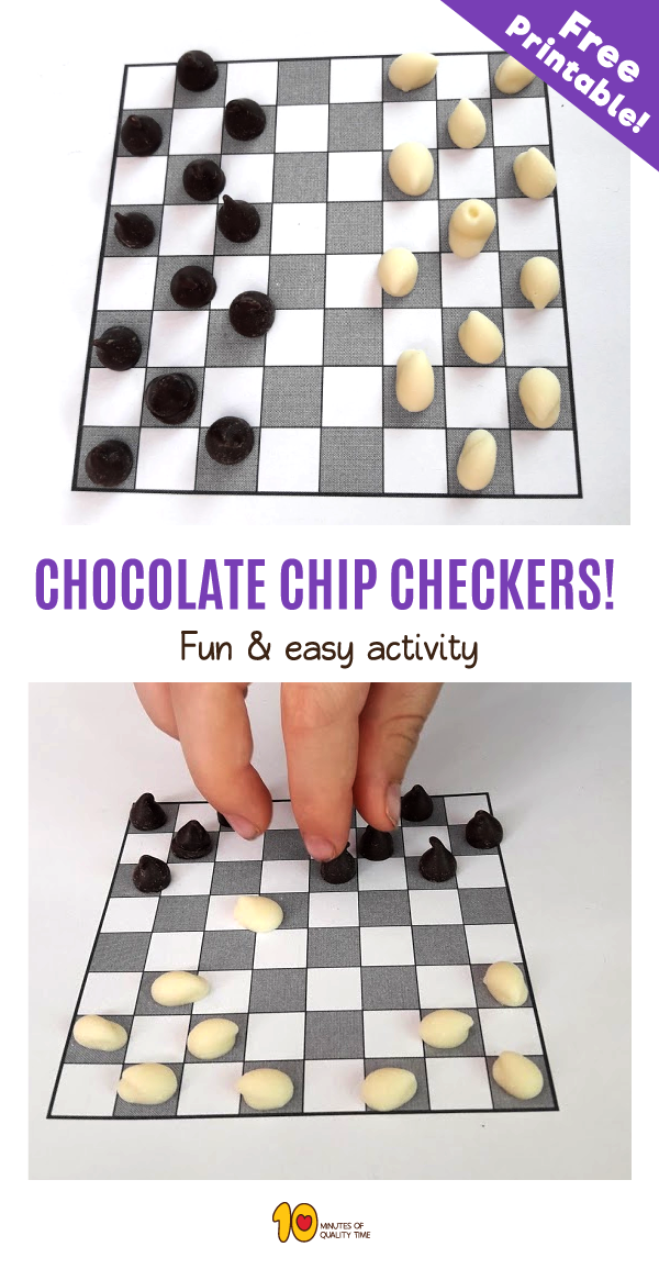 photo relating to Printable Checkers Board named Chocolate Chip Checkers Activity - 10 Minutes of Top quality Year