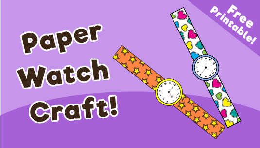 Paper Watch Craft for Kids