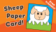 Sheep Paper Greeting Card