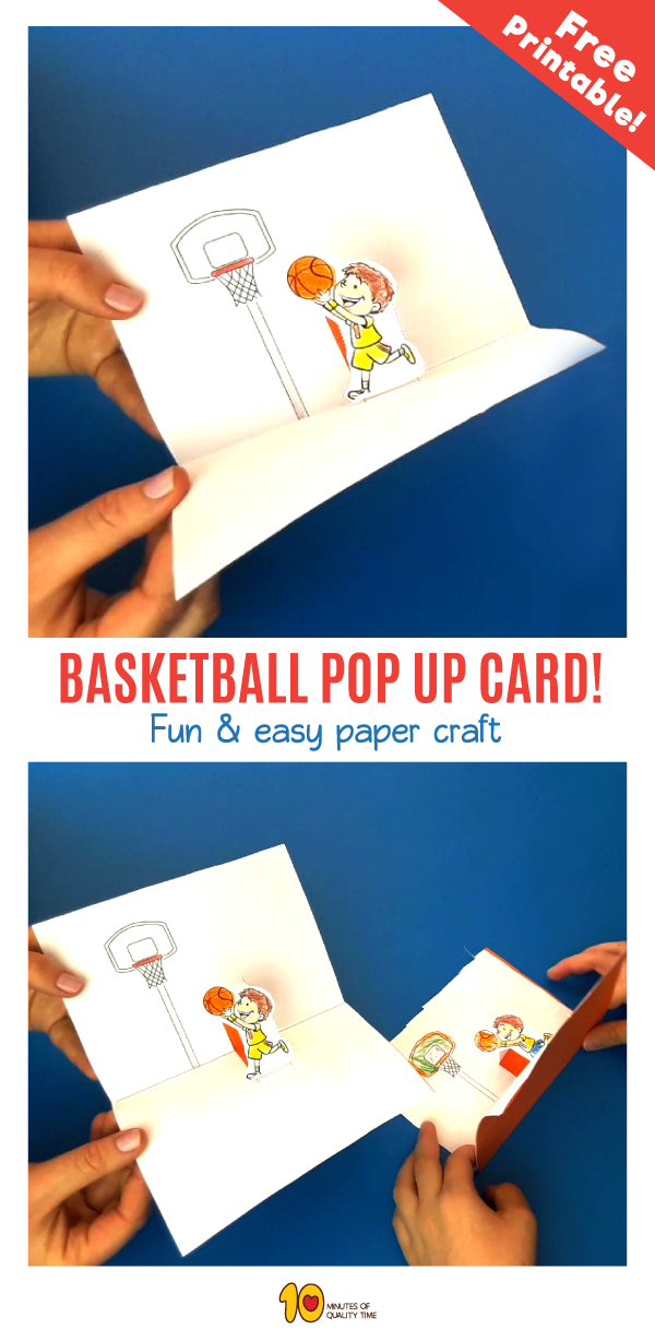 Basketball Pop Up Card Craft for Kids