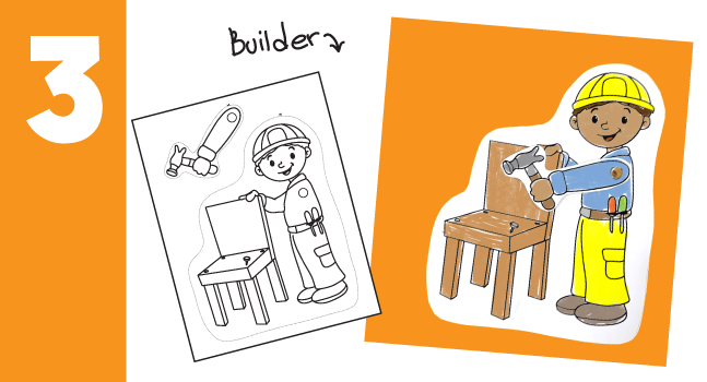 Building a Chair - builder craft for kids
