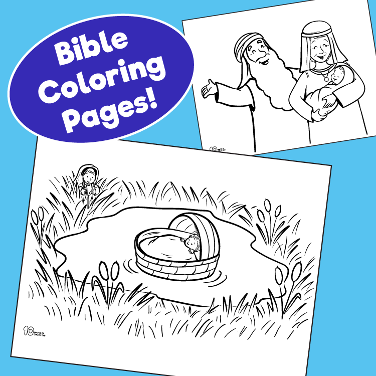 Bible Coloring Pages - The Ultimate Pack for Sunday School and  Homeschooling - 10 Minutes of Quality Time
